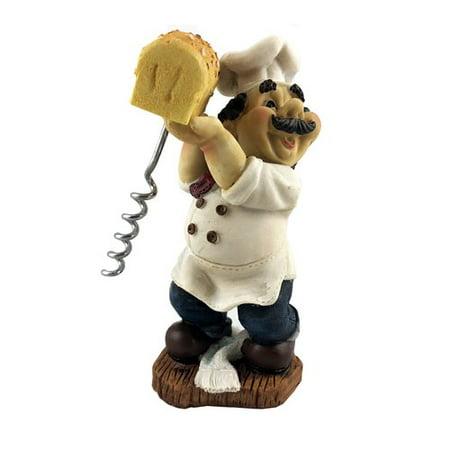 Wine Bodies Fat Chef Italian Baker Holding Bread Figurine