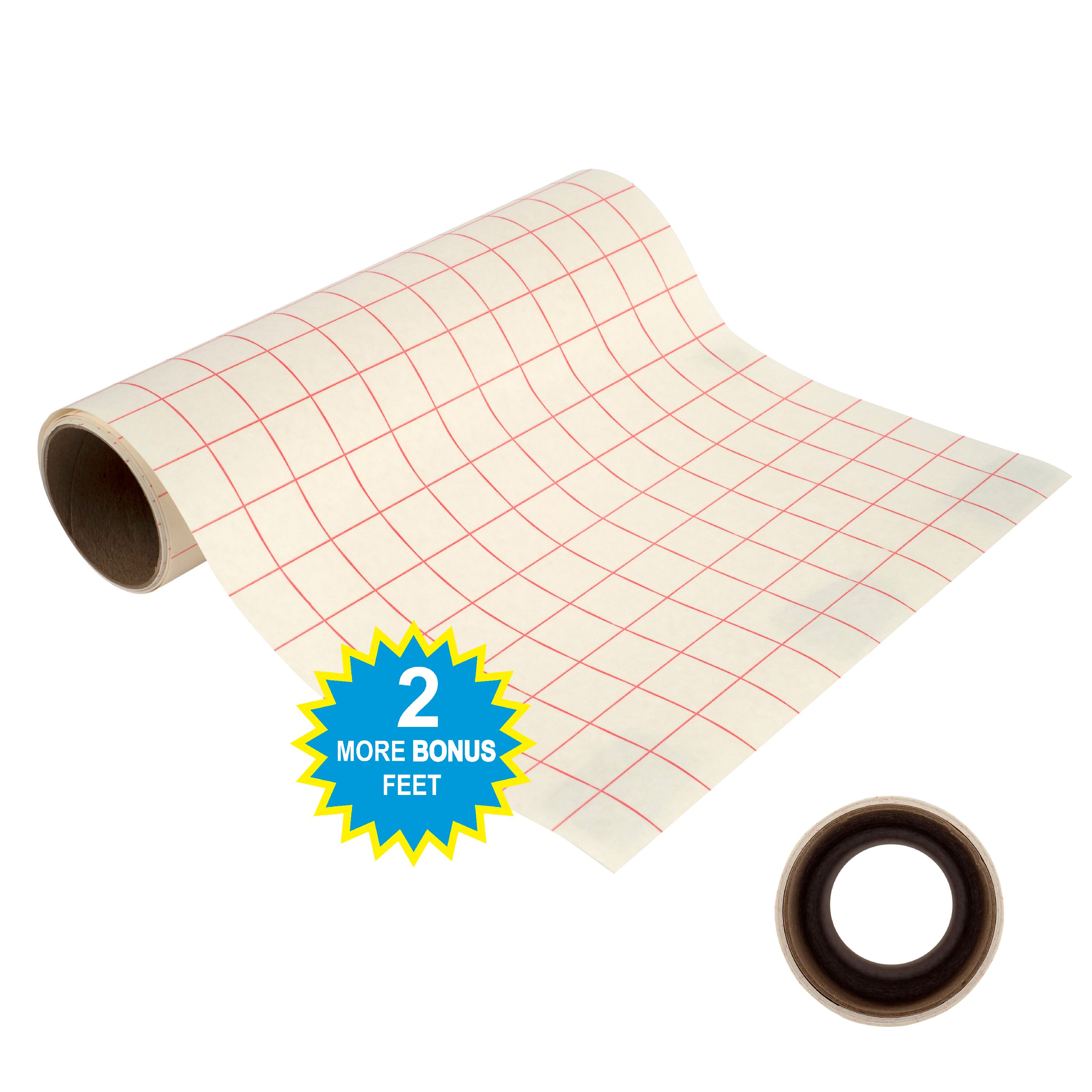 "Angel Crafts 12"" by 8' Transfer Paper Tape Roll w/ Grid"