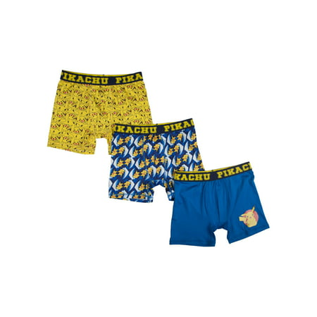 Pokemon Boy's PolyBoxer Briefs, 3 Pack