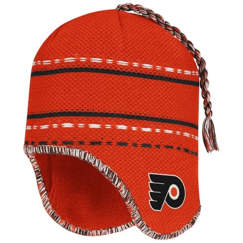 Reebok Philadelphia Flyers Face-Off Peruvian Knit Beanie - Orange - OSFA