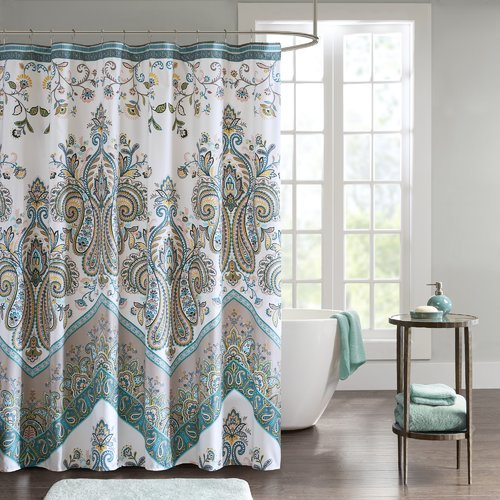 Bungalow Rose East Rolstone Printed Single Shower Curtain