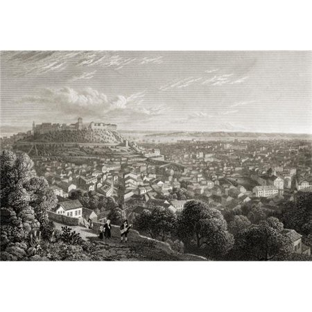Posterazzi  Lisbon, From The Chapel Hill of Nossa Senhora Da Monte by Lt Col Batty FRS From The Book -Select Views of Some of The Principal Cities of Europe Published London 1832 Engraved by W](Party City Chapel Hill)