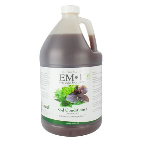 TeraGanix - 1 Gallon Mycchorrizae Microbial Inoculant Soil Liquid Probiotic - Compost Accelerator - 1gal