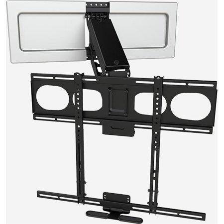 mantelmount mm540 enhanced pull down tv mount above fireplace. Black Bedroom Furniture Sets. Home Design Ideas