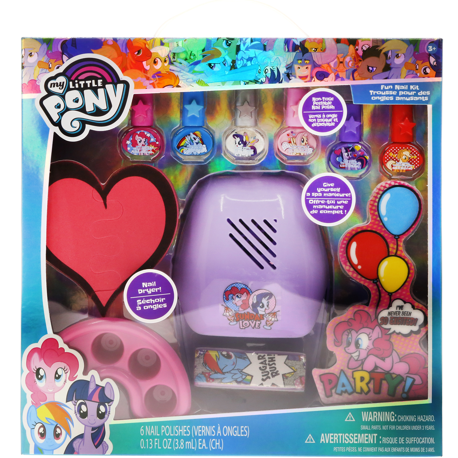 My Little Pony Fun Nail Kit with Nail Dryer by Townley Inc