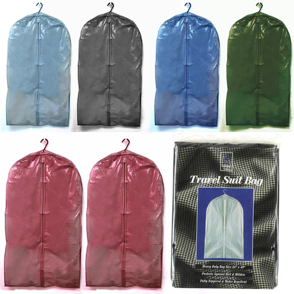 2 Travel Suit Garment Storage Bag Protective Cover Against Dust Mold Mildew New