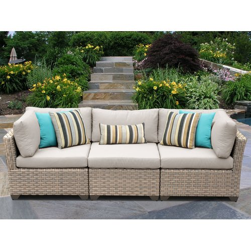 TK Classics Monterey Corner Armless Sectional Piece with Cushions