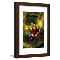 Marvel Adventures Super Heroes No.4 Cover: Iron Man, Hulk and Spider-Man Framed Print Wall Art By Roger Cruz