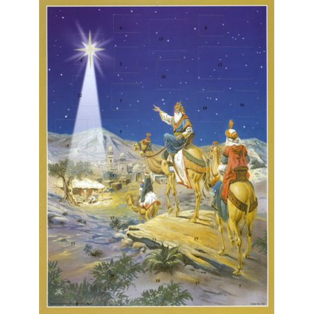 Three Kings German Advent Calendar Wisemen Christmas Countdown Bible - Disney Parks Halloween Countdown Calendar