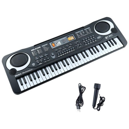 Kids Piano Keyboard, 2018 Improved Version 61 Keys Electronic Multifunction Keyboard Piano Musical Instrument Toys for 2 3 4 5 6 Year Old Boys Girls Gifts Age 2-6 Christmas Gift for Kids Black - 4 Year Old Christmas Gifts