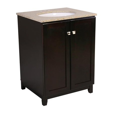 Design House 612697 37 X 25 X 22 In  Shorewood Espresso 2 Door Vanity Cabinet With Single Bowl Sink Bathroom  44  Golden Sand