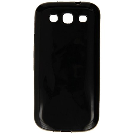 Rubber Gel Silicone Skin - Silicone Rubber Gel Soft Skin Case Cover for Samsung Galaxy S3 i9300/I535/L710/T999/I747 - Retail Packaging - Black