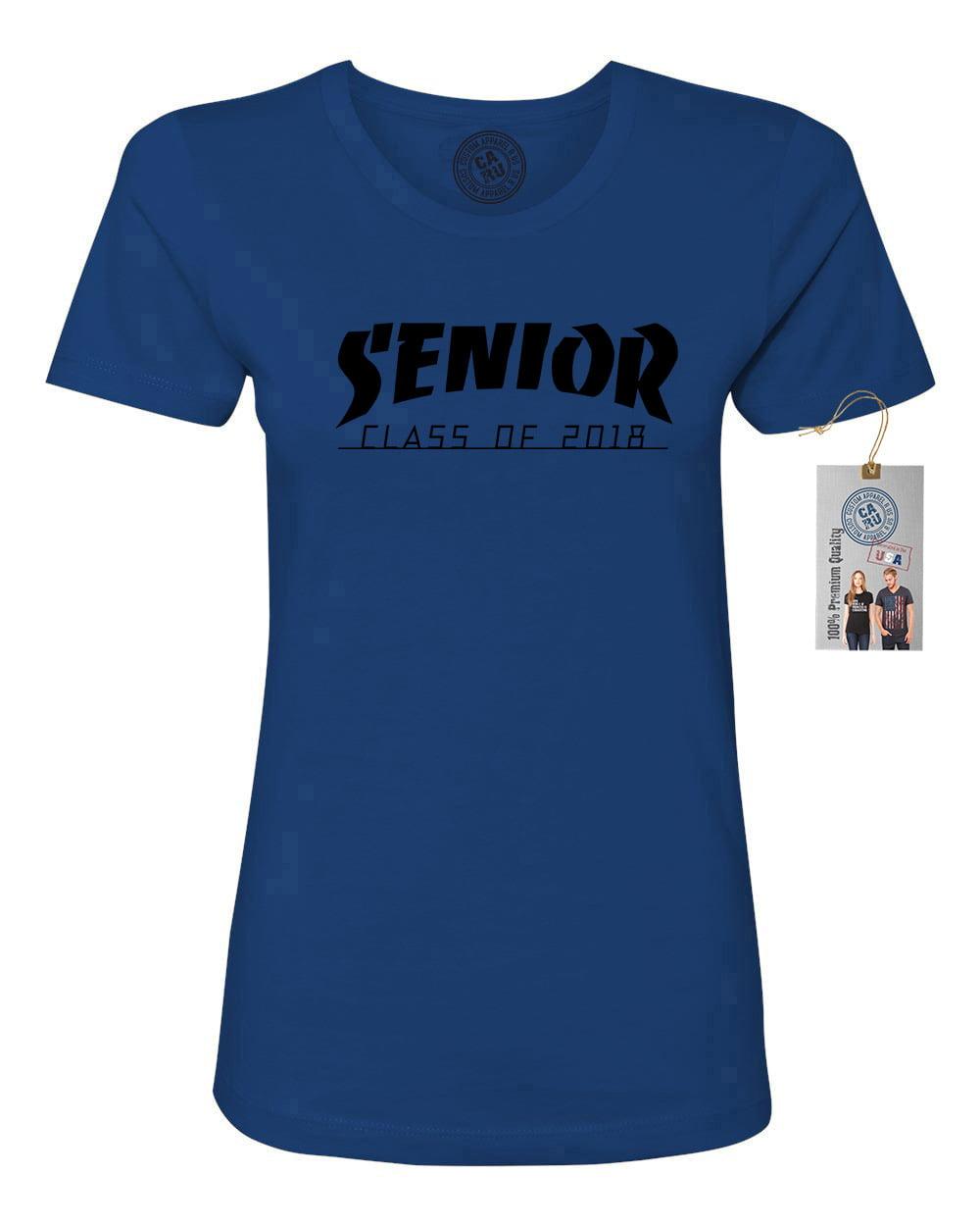 a918c327c Senior Class of 2018 High School College Womens Short Sleeve T-Shirt