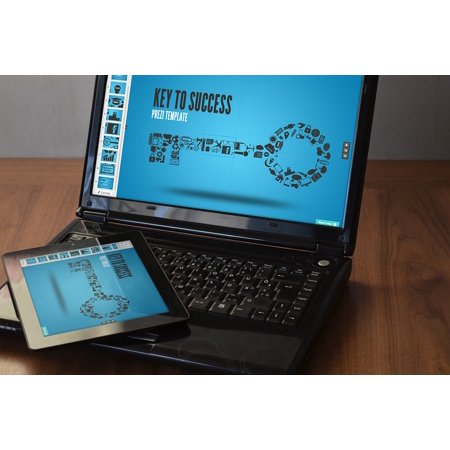 Laminated Poster Laptop Prezi Ipad Touch Black Ipad Black Laptop Poster Print 24 X 36