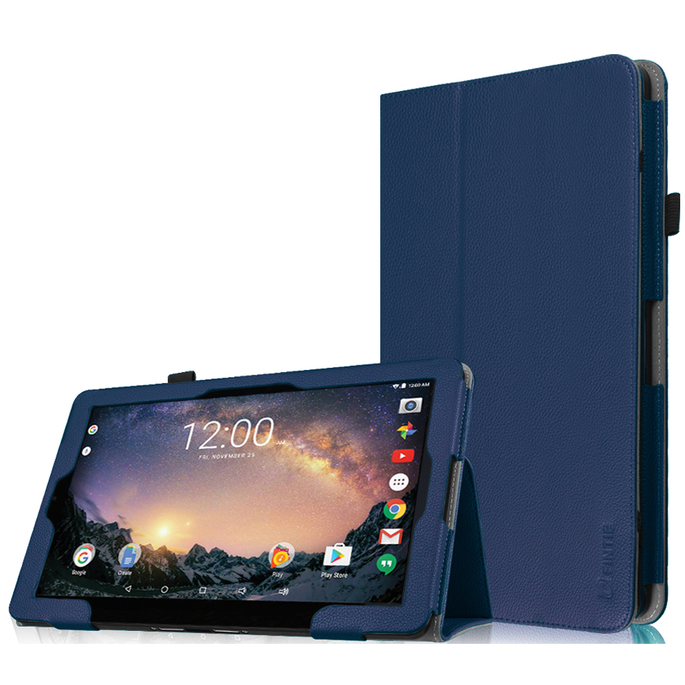 "Fintie RCA 11 Galileo Pro11.5"" Tablet Case (RCT6513W87DK C)- Premium Vegan Leather Folio Stand Cover, Navy"