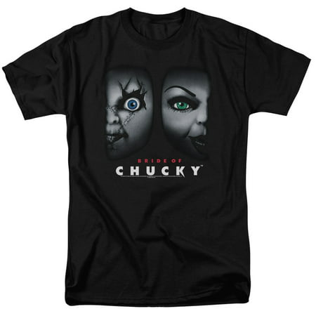 Bride Of Chucky - Happy Couple - Short Sleeve Shirt - Small - Chucky Striped Shirt For Toddler