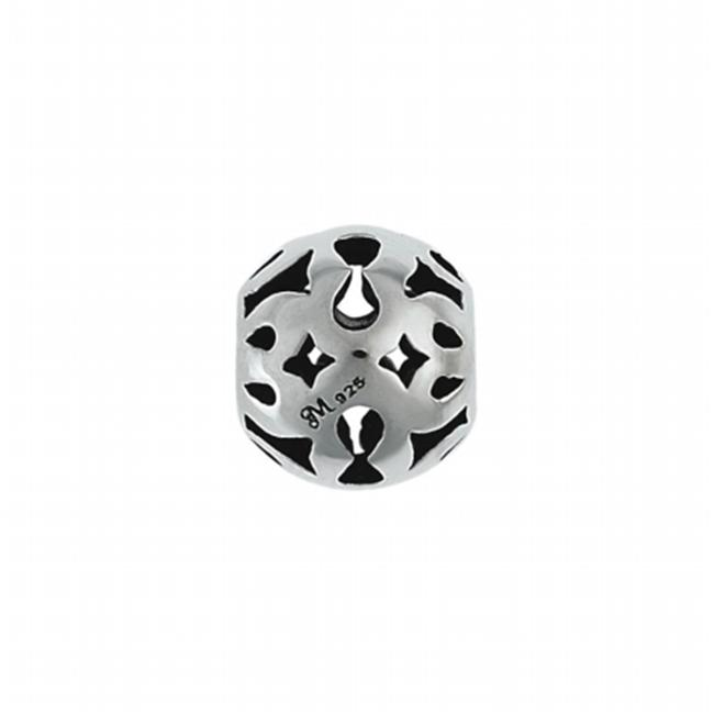 131013 Keyhole Bead in Sterling Silver.  Weight- 3. 00g