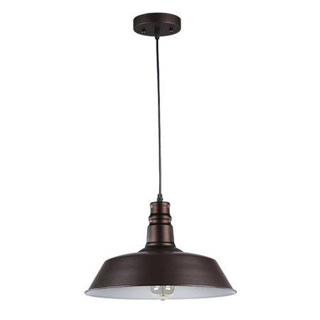 CHLOE Lighting FRIEDRICH Industrial-style 1 Light Rubbed Bronze Ceiling Mini Pendant 14