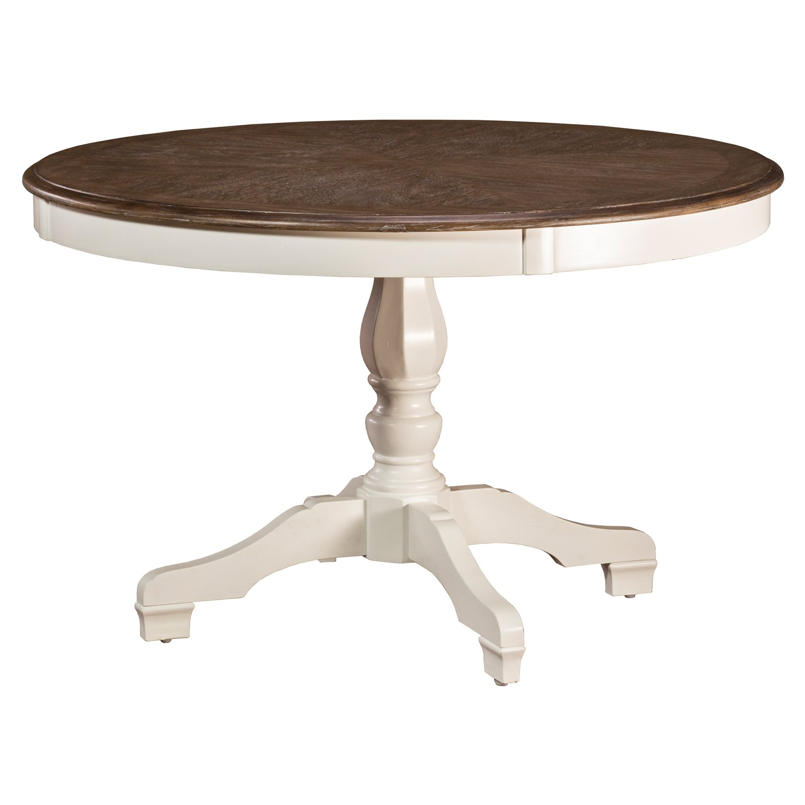 Hillsdale Furniture Bayberry   Embassy Round Dining Table, White by Hillsdale Furniture