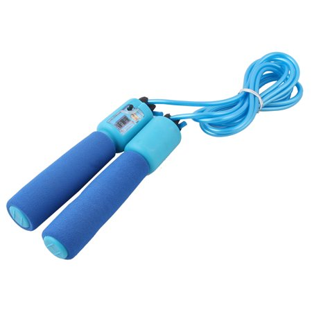 Foam Handle Counter Fitness Gym Adjustable Skipping Jump Rope Blue 2M Long - image 1 de 1