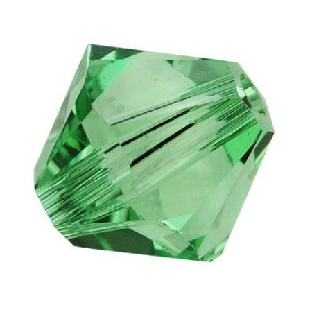 Swarovski Crystal, #5328 Bicone Beads 4mm, 24 Pieces, Erinite
