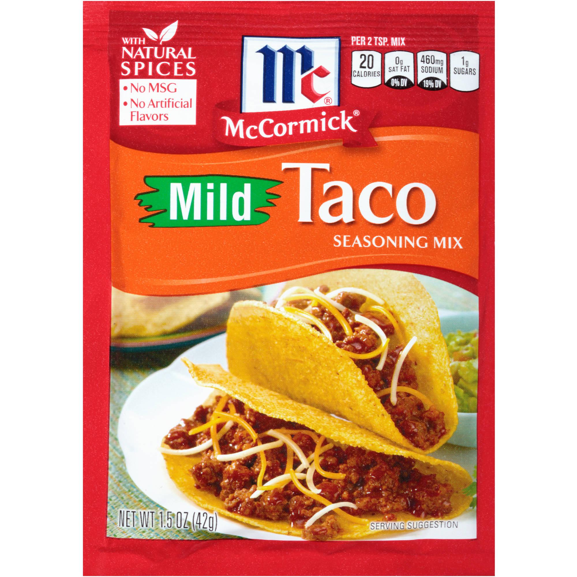 McCormick Mild Taco Seasoning Mix, 1.5 oz