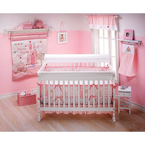 Disney - Princess Happily Ever After 3pc Crib Bedding Collection Set - Value Bundle