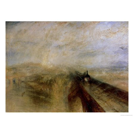 Rain Steam and Speed, the Great Western Railway, Painted Before 1844 Print Wall Art By J. M. W.