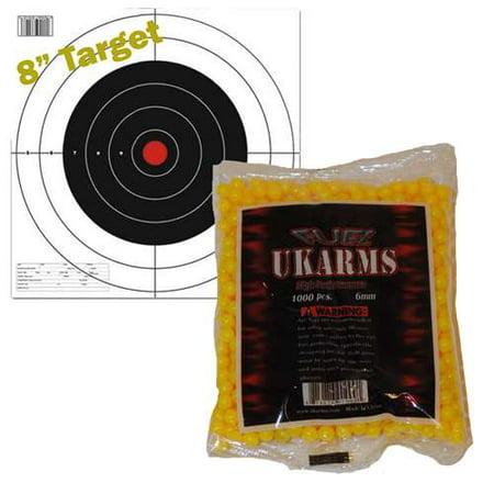 6mm Yellow Soft Air Ammo (YELLOW 1,000 AIRSOFT BBs Pellets 6mm .12g BB For Pistol Gun Rifle AMMO +)