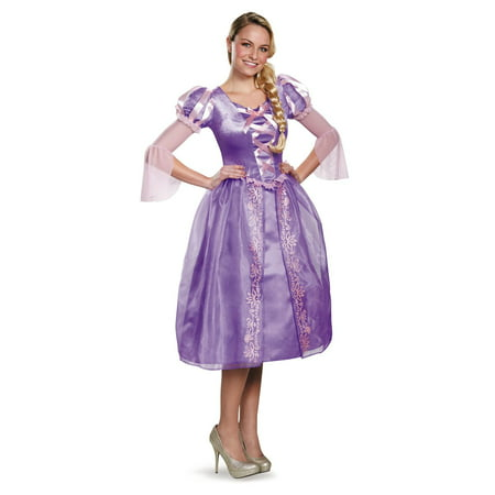 Disney Princess Deluxe Womens Rapunzel Costume - S (4-6) - Disney Character Fancy Dress Adults