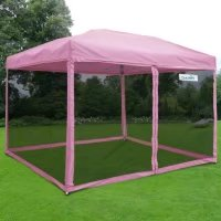 Quictent 10x10 Ez Pop up Canopy Tent with mosquito Netting Screen House Instant Gazebo (Pink) by ML