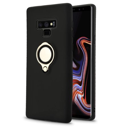 Galaxy Note 9 Case, Hybrid Protective case [NewFrontier Shield Band] Built in Rubber Backstrap [Built in Metal Kickstand] Dual Layer [Shock Absorbing] for Samsung Galaxy Note 9 2018 Digital Dual Band Cell Phone