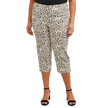 Wear Cropped Pants (Women's Plus Size Leopard Print Cropped Pant )