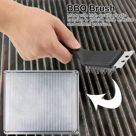 Rdeghly Grill Brush Extra Strong Kitchen BBQ Cleaner Stainless Steel Safe Wire Bristles, BBQ Grill Cleaning Brush, BBQ Grill Brush - image 8 of 8