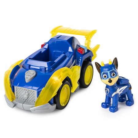 Paw Patrol, Mighty Pups Super Paws Chase, Deluxe Vehicle With Lights And Sounds