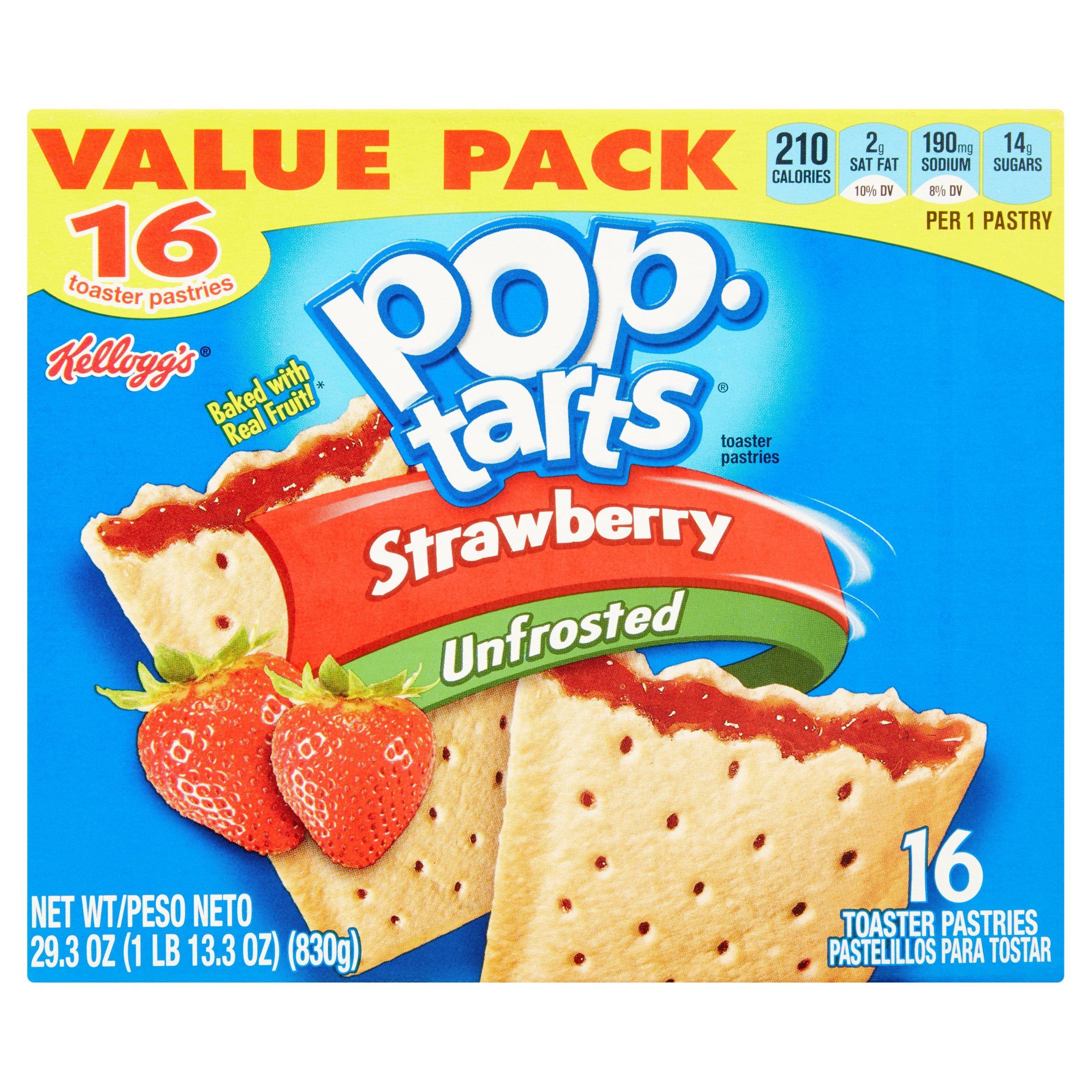 Kellogg's Strawberry Pop-Tarts Toaster Pastries, 16 ct by Kellogg Sales Co.