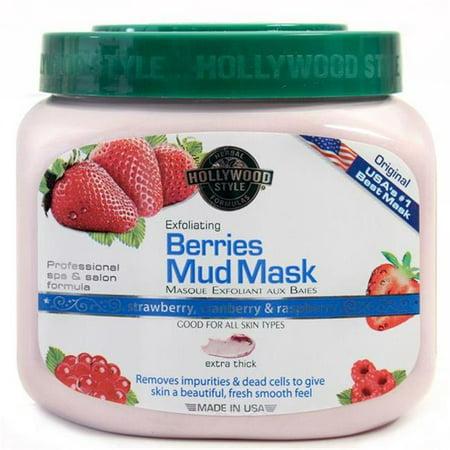 Hollywood Style 51300 Exfoliating Berries Mud Mask in Jar, 11 oz