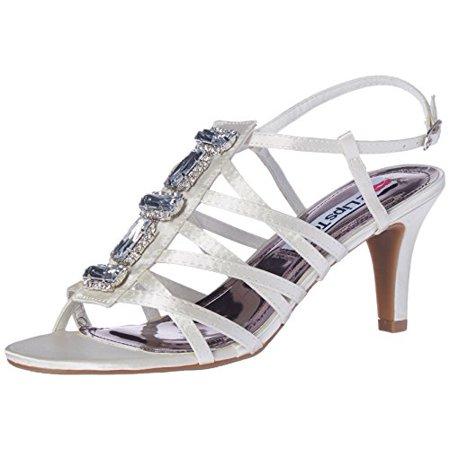 Elle Pumps - 2 Lips Too Women's Too Elle Dress Pump, White Satin, 8 M US