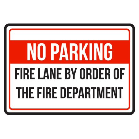 No Parking Fire Lane By Order Of The Fire Department Red, Blk & White Business Commercial Safety Small Sign, 7.5x10.5](Lovers Lane Halloween Commercial)