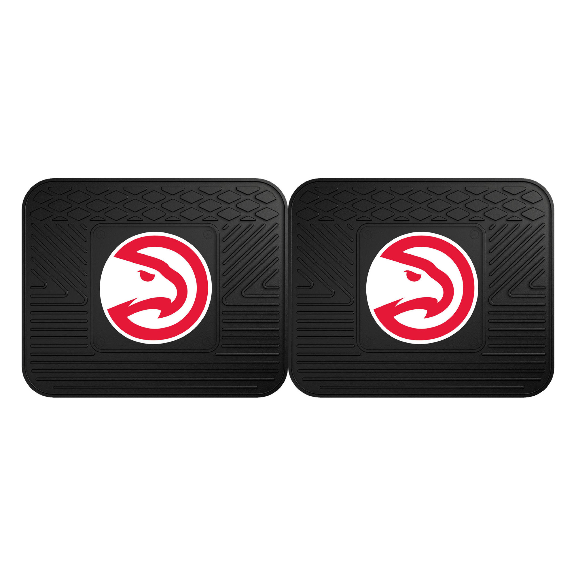 NBA Atlanta Hawks Heavy Duty Rear Car Floor Mats, 2-Piece Set