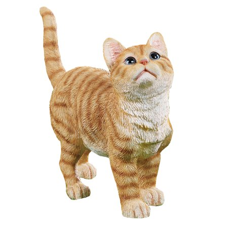 Collections Etc. Cute Kitty Orange Tabby Cat Garden Statue Outdoor Decoration