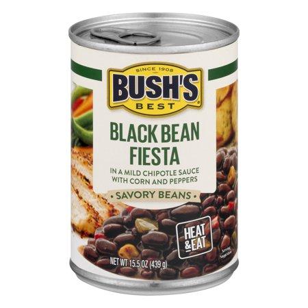 BUSH'S Savory Beans Black Bean Fiesta - 15.5oz