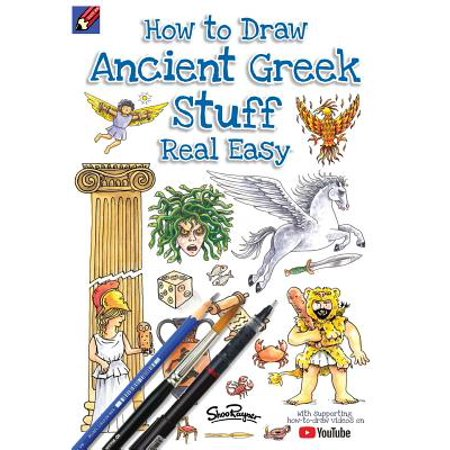 How to Draw Ancient Greek Stuff Real Easy : Easy Step by Step Drawing Guide - Cool Stuff To Draw For Halloween
