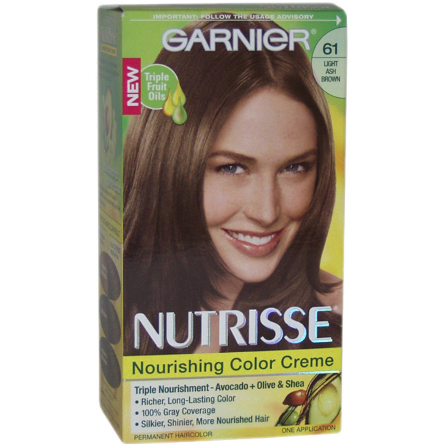 Garnier Nutrisse Nourishing Color Creme Hair Color 61 Light Ash