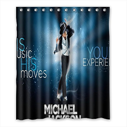 DEYOU Michael Jackson Shower Curtain Polyester Fabric Bathroom Size 60x72 inches