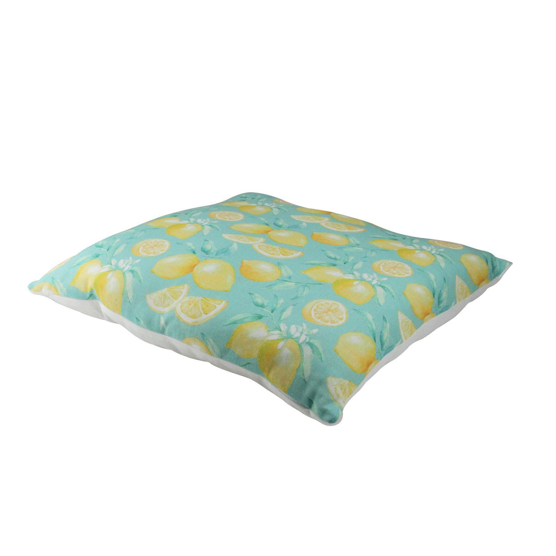 "17"" Green Tropical Lemons Decorative Cotton Throw Pillow - image 1 de 2"