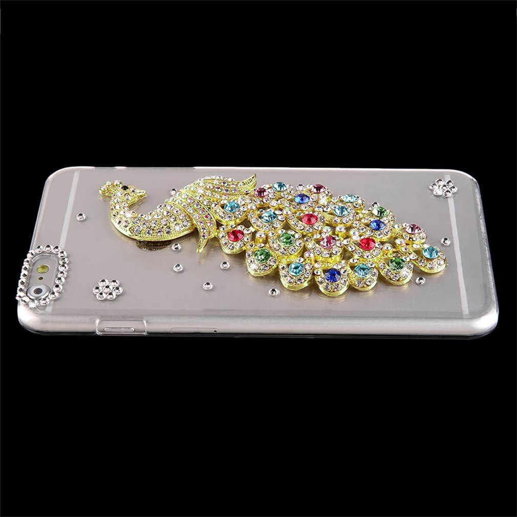 ... 3D Luxury Crystal Peacock Hard Back Case Cover For iPhone 6 Plus 5 5 inch PC