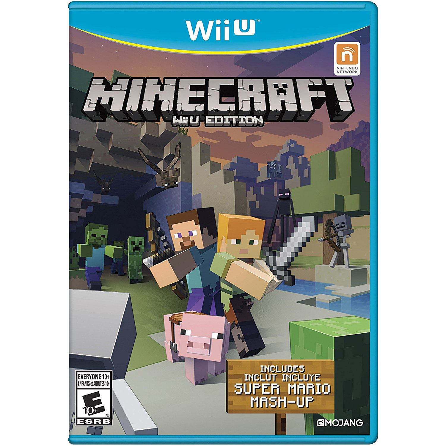 Minecraft: Wii U Edition, Nintendo, WIIU, [Digital Download], 0004549666115