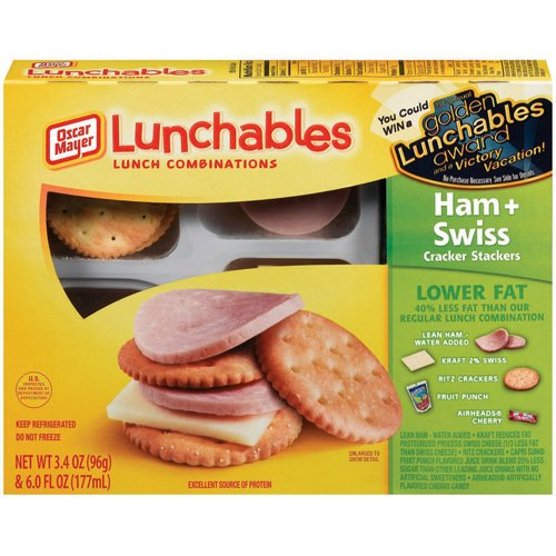 Oscar Mayer Lunchables: Ham + Swiss Cracker Stackers, 3.40 oz