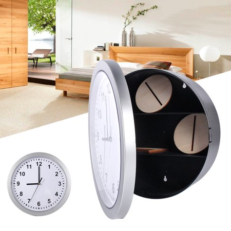 HURRISE Hidden Secret Wall Clock Safe Container Box for Money Stash Jewelry Valuables Cash Storage,Clock Safe, Clock Safe Diversion Compartment ()